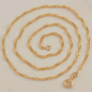New arrival gold plated 18 inch chain